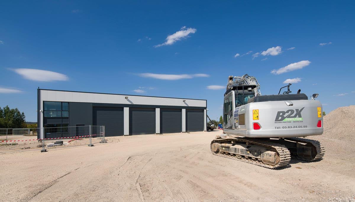 Nancy Construction - Construction d'un bâtiment d'activités diverses à ossature métallique
