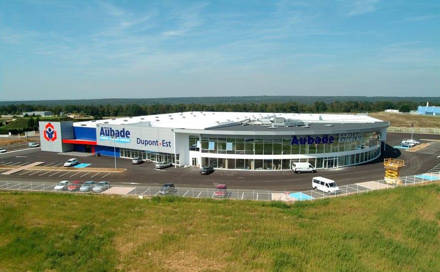 Nancy Construction - Construction d'un bâtiment d'activité Négoce & Vente au comptoir à ossature métallique