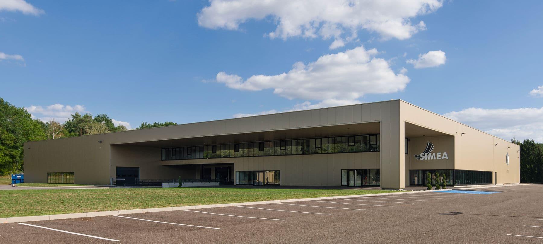 Nancy Construction - Construction d'un bâtiment industriel à ossature métallique